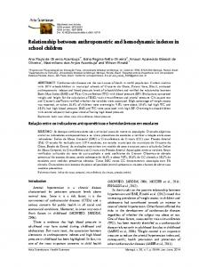 Relationship between anthropometric and