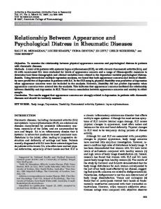 Relationship between appearance and ... - Wiley Online Library
