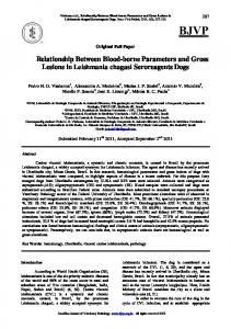 Relationship Between Blood-borne Parameters and Gross Lesions in ...