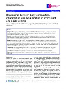 Relationship between body composition ... - BioMedSearch
