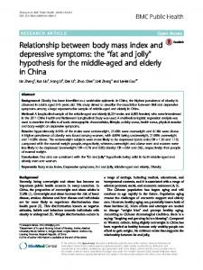 Relationship between body mass index and depressive symptoms: the ...