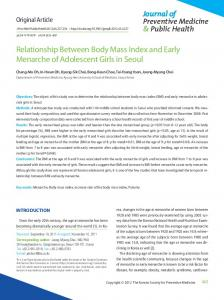 Relationship Between Body Mass Index and Early ... - Semantic Scholar
