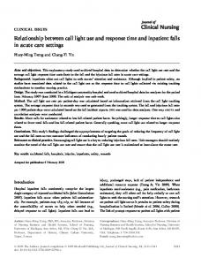 Relationship between call light use and response ... - Semantic Scholar
