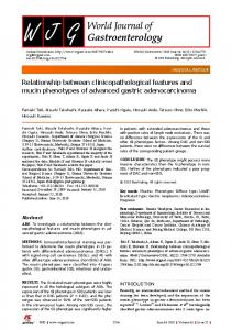 Relationship between clinicopathological features and mucin ...