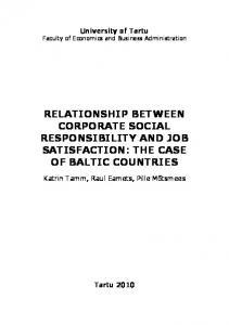 relationship between corporate social responsibility and job satisfaction