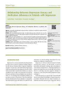 Relationship Between Depression Literacy and