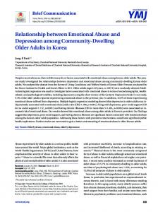 Relationship between Emotional Abuse and Depression among ...