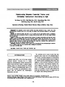 Relationship Between Essential Tremor and ... - BioMedSearch