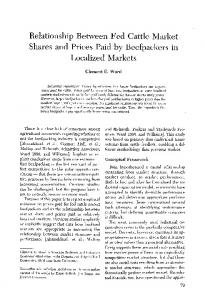 Relationship Between Fed Cattle Market Shares and ... - AgEcon Search