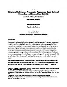 Relationship Between Freshwater Resources, Socio-Cultural ...