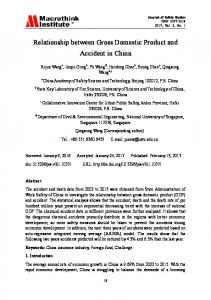 Relationship between Gross Domestic Product and Accident in China