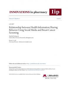 Relationship between Health Information Sharing Behavior Using ...