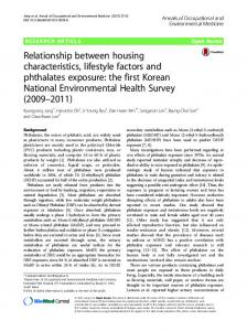 Relationship between housing characteristics, lifestyle factors and ...