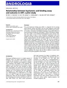Relationship between hyaluronic acid binding ... - Wiley Online Library