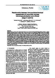 Relationship between immunohistochemical assessment of bronchial ...
