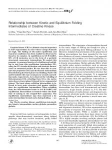 Relationship between Kinetic and Equilibrium