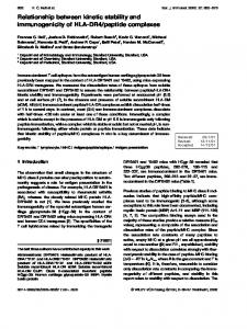 Relationship between kinetic stability and ... - Princeton University