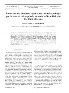 Relationship between light absorption by pelagic ... - Inter Research