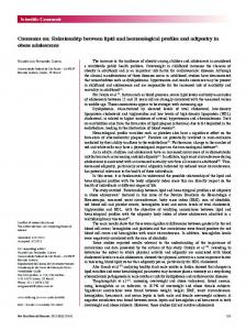 Relationship between lipid and hematological profiles and ... - Scielo.br