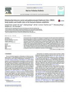 Relationship between metal and polybrominated diphenyl ether ...