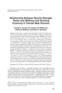 Relationship Between Muscle Strength, Power and