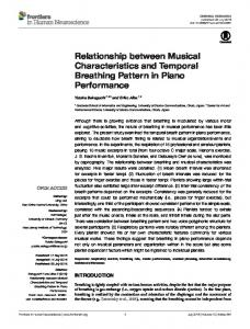 Relationship between Musical Characteristics and