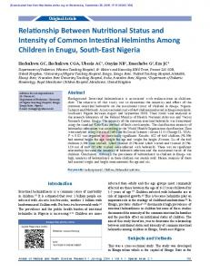 Relationship Between Nutritional Status and Intensity ...