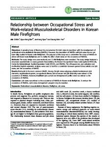 Relationship between Occupational Stress and Work ... - BioMedSearch