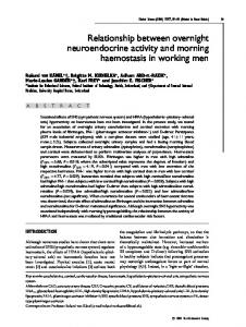 Relationship between overnight neuroendocrine