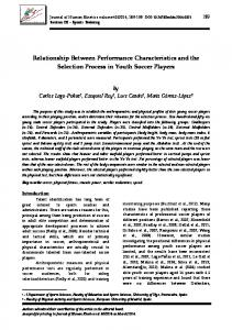 Relationship Between Performance Characteristics