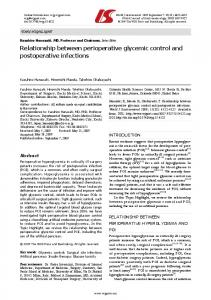 Relationship between perioperative glycemic