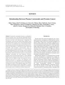 Relationship Between Plasma Carotenoids and ... - Erbe officinali
