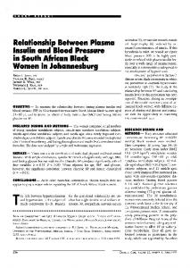 Relationship Between Plasma Insulin and Blood ... - Diabetes Care
