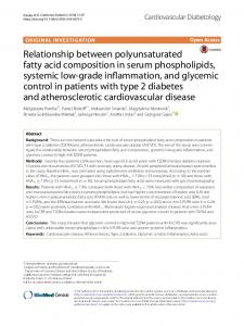 Relationship between polyunsaturated fatty acid composition in serum ...