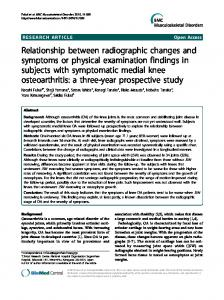 Relationship between radiographic changes and ... - BioMedSearch