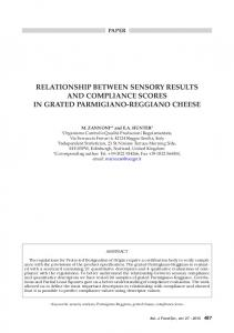 relationship between sensory results and compliance ... - Chiriotti Editori