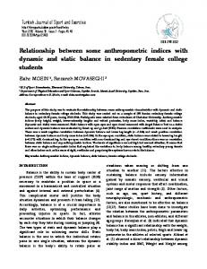 Relationship between some anthropometric indices with ... - DergiPark