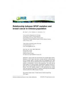 Relationship between SPOP mutation and breast ... - FUNPEC-RP