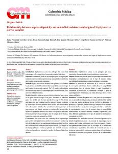 Relationship between super antigenicity, antimicrobial resistance and ...
