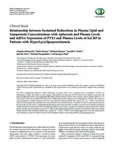 Relationship between Sustained Reductions in Plasma Lipid and ...