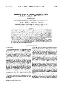 Relationship between the longwave cloud radiative forcing at the ...