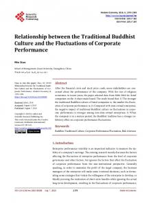 Relationship between the Traditional Buddhist Culture and the ...