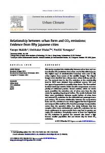 Relationship between urban form and CO2 emissions - Core