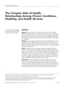 Relationships Among Chronic Conditions, Disability, and Health ...