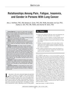Relationships Among Pain, Fatigue, Insomnia, and ...