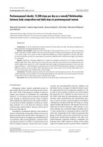Relationships between body composition and