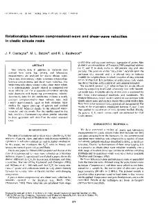 Relationships between compressional-wave and shear-wave ...