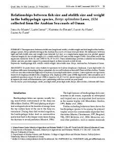 Relationships between fish size and otolith size ... - Livorno - Livorno