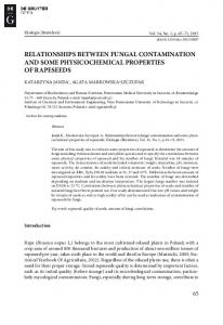 relationships between fungal contamination and