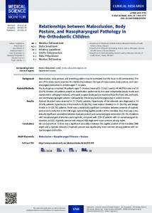 Relationships between Malocclusion, Body Posture, and ... - LSMU
